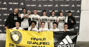 "Zero Gravity ""Gold Rush Champions""          8th Grade Lions"